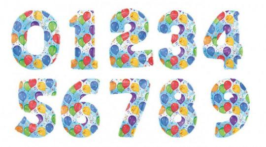 Цифры с шариками