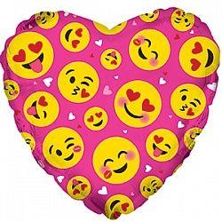 Сердце Влюблённые смайлы фуксия