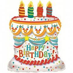 Торт со свечками - шар фольгированный